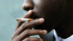 Person smoking cigarette used to illustrate the story