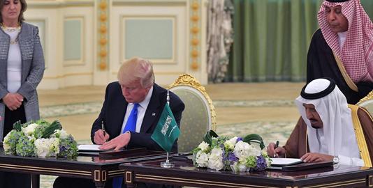 U.S. President Trump, King Salman of Saudi Arabia sign $110bn arms deal [Photo: 12 News]