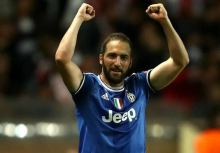 Gonzalo Higuain celebrates after scrong one of his goals