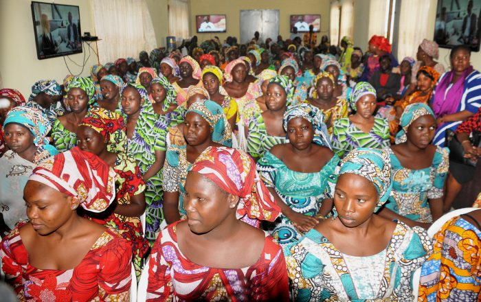 pic 2. DSS HANDS OVER 82 CHIBOK SCHOOLGIRLS TO MINISTER OF WOMEN AFFAIRS IN ABUJA