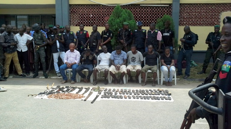 PHOTO NEWS: Police arrest Nigeria's 'most wanted' kidnap