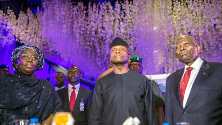 Acting President Yemi Osinbajo at the 5th Annual Christopher Kolade Lecture