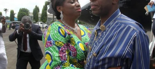 Minister of transportation, Rotimi Amaechi and wife, Judith Amaechi [Photo: Sahara Reporters]