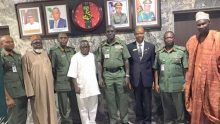 Army Chief, Lieutenant-General Tukur Burutai receives report from the Nigerian Army Special Board of Inquiry on allegations of Human Rights abuse against military officers.