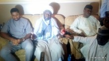 Yakubu Yahaya, leader of the Katsina chapter of the Shiite sect, flanked by Oyetakin Ebenezer Executive Secertary Anticorruption Network (R) and Deji Adeyanju Concern Nigeria (L) addressing a press conference after a mob attacked Shiites in Kaduna on Friday.