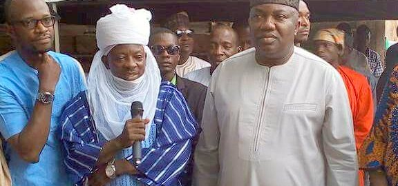 Yusuf Sambo, (the Sarkin Hausawa) and Governor Ugwuanyi