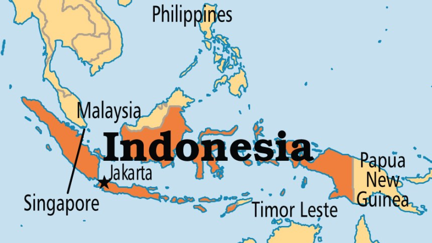 Indonesia On Map U.S. issues security alert on Indonesia ahead of election results