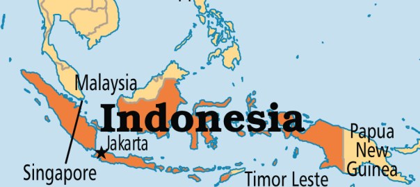 Indonesia on map used to illustrate the story