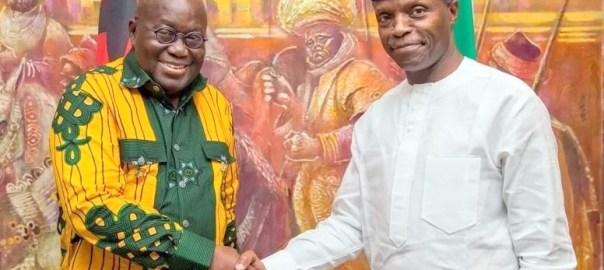 Osinbajo hosts Ghanaian President Nana Akufo-Addo [Photo: Naij.com]