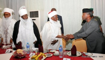 Image result for Hate Speech: Osinbajo meets with northern traditional rulers