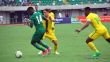 2019 AFCON Qualifying match between the Super Eagles of Nigeria (Green) and Bafana Bafana of South Africa, in Uyo on Saturday (10/6/17). 03145/10/6/2017/Chidi Ohalete/BJO/NAN
