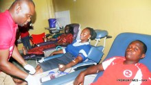 Donors being prepared for the exercise the 2017 World Blood Donors Day at the University College Hospital Ibadan on Wednesday (14/6/17). 03240/14/6/2017/Esther Bode-Are/BJO/NAN