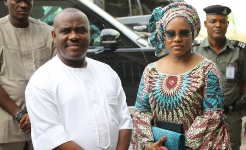Governor Wike and wife, Eberechi Wike