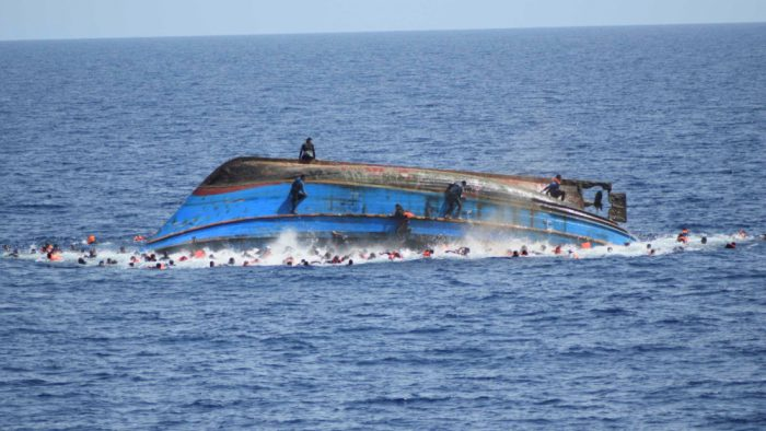 A capsized vessel used to illustrate the story [Photo: Al Jazeera]
