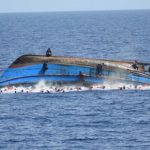 A capsized vessel used to illustrate the story [Photo: Al Jazeera]