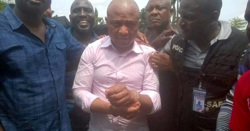 Kidnap kingpin, Evans, paraded by security operatives [Photo: Punch Newspapers]