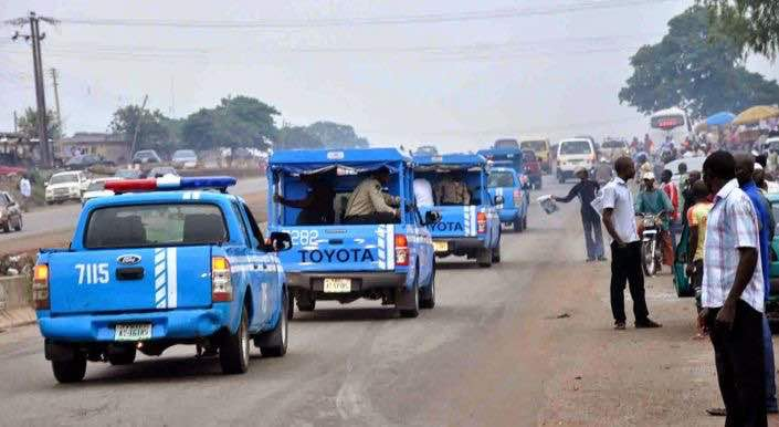 A convoy of FRSC Officials used to illustrate the story