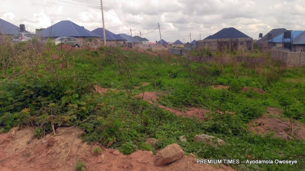 Undeveloped plot of land in the estate