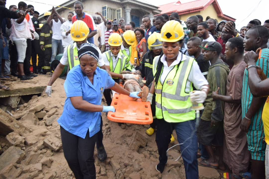 Bungalow collapses in Lagos leaving mother, daughter dead