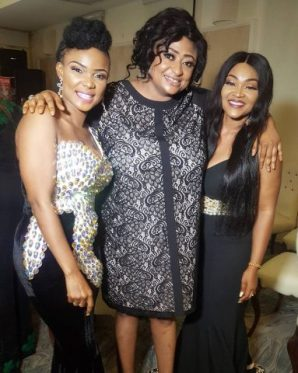 Iyabo Ojo, Ronke Oshodi Oke and Mercy Aigbe at the event