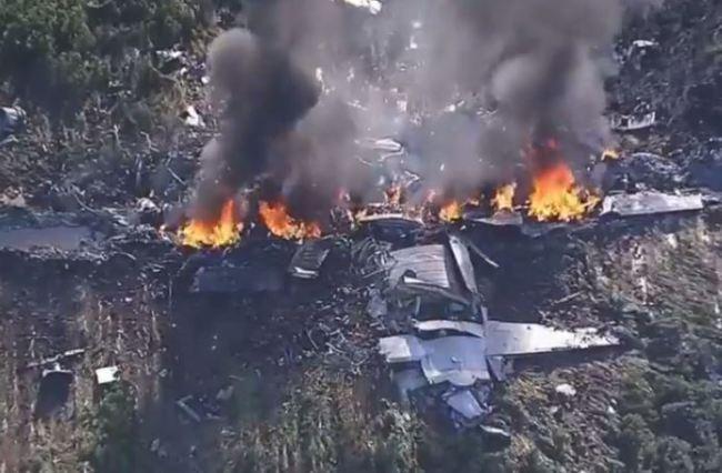 C-130 military plane crashes in Mississippi (NBC Photo)