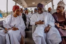 Lagos State Governor, Mr. Akinwunmi Ambode (middle), with his Osun and Oyo State counterparts, Ogbeni Rauf Aregbesola (left) and Sen. Abiola Ajimobi (right) during Governor Ambode's visit to Osun State, on Thursday, July 20, 2017.