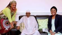 President Muhammadu Buhari with his wife, Aisha