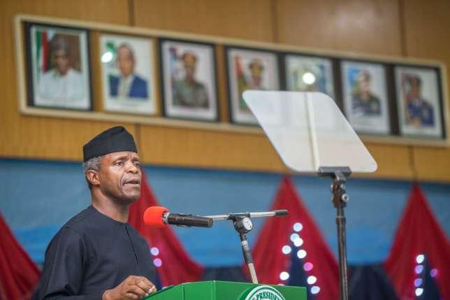 Acting President, Yemi Osinbajo [Photo Credit: Pulseng]