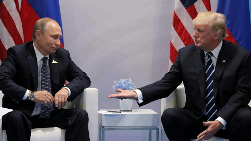 U.S President Donald Trump with Russian President Vladimir Putin