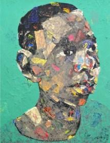 wanderlust 4 by emeka udemba, acrylic, paper on canvas, 2016, 166cm x 139 cm