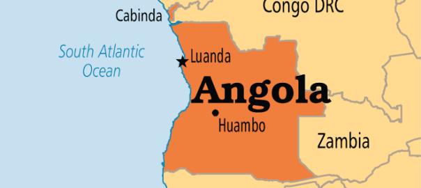 Angola on map