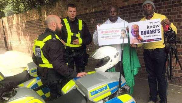 Anti-Buhari protesters in London