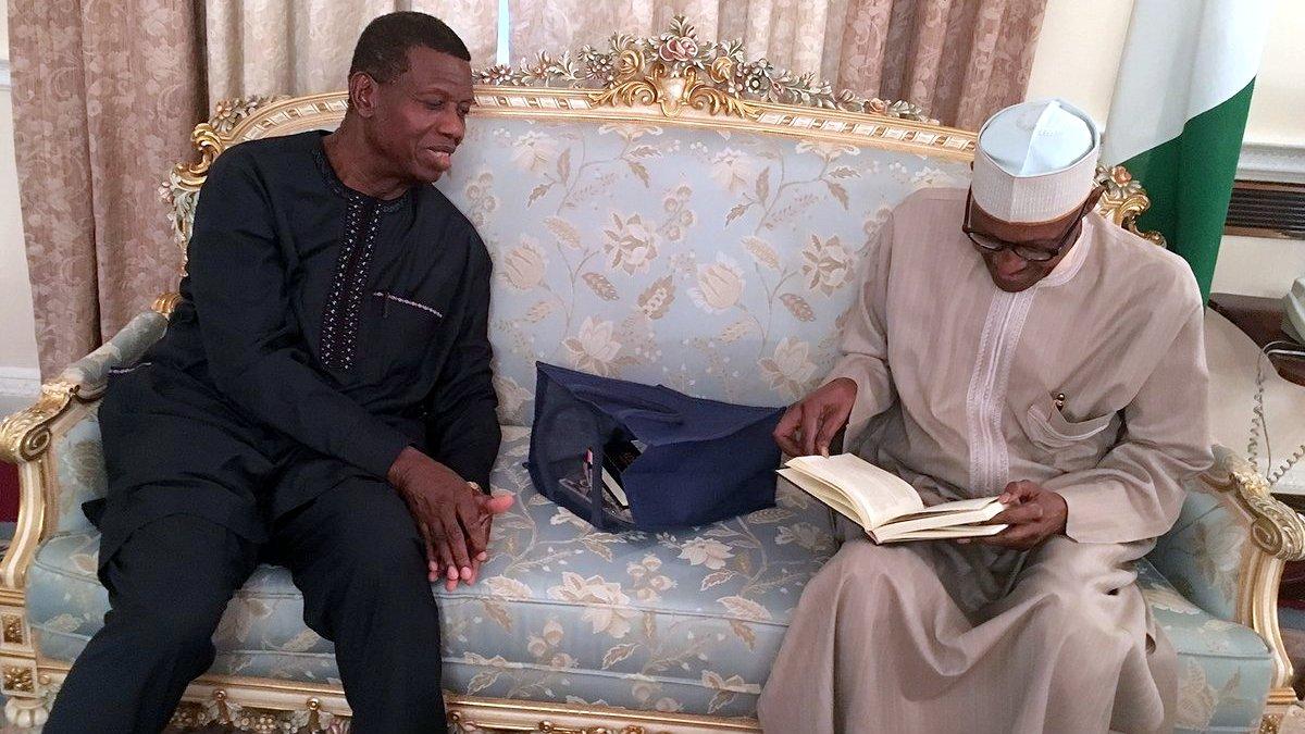 President Buhari Hosts Saraki, Dogara in London