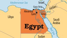 Egypt on map