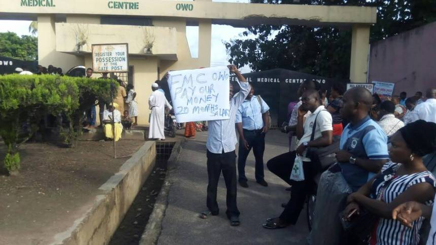 Image result for Health workers strike paralyse activities at FMC Owo