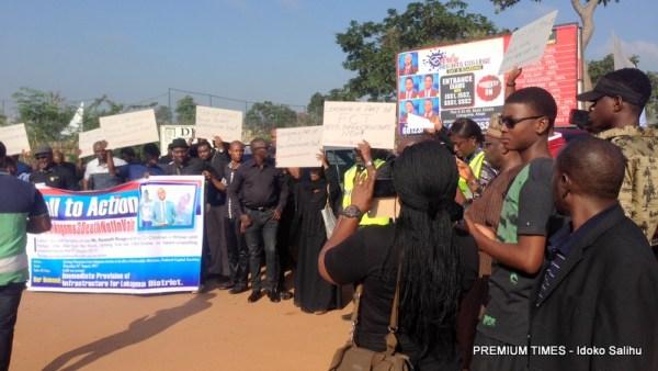 protesters in Lokogoma