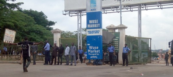 The entrance of Wuse Market