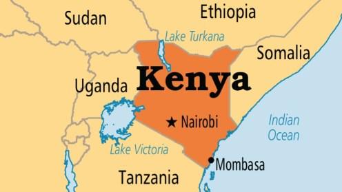 Kenya on map