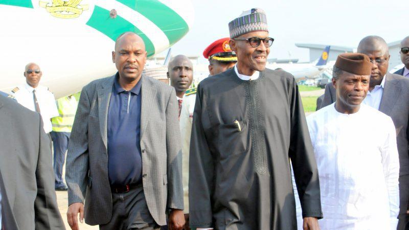 Buhari arrives Nigeria