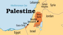 Palestine on map