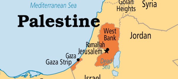 Palestine on map