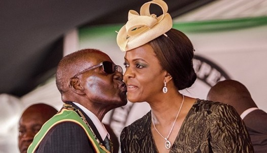 Robert and Grace Mugabe [Photo: NAN]