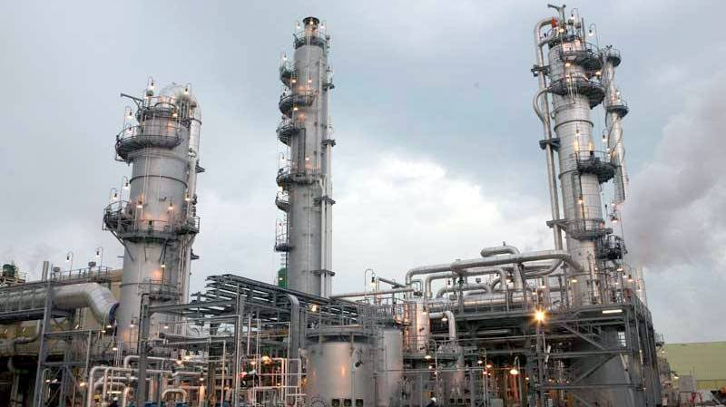 Section of the Notore fertiliser plant