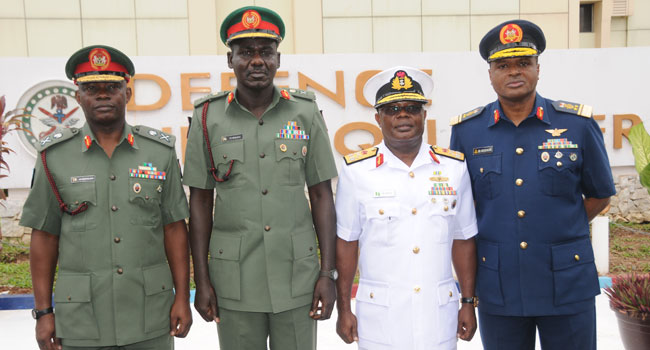 Service Chiefs arrive Maiduguri following Osinbajo's order