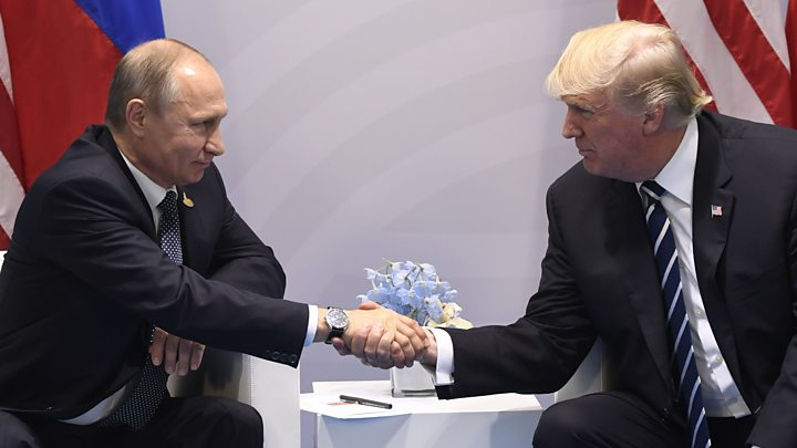 Russian President, Vladimir Putin and U.S. President, Donald Trump [Photo Credit: BBC]
