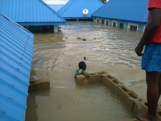 Flooded mini-estate used to illustrate the story.[photo credit: scan news]