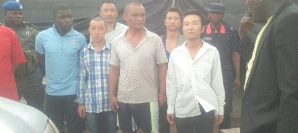 The arrested alleged illegal miners