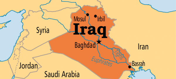 Iraq on map