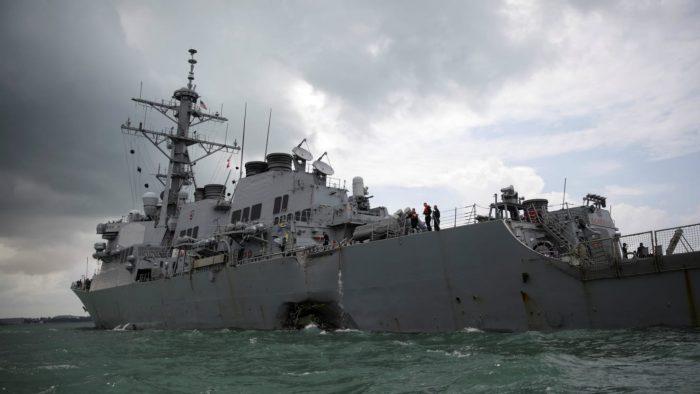 USS John Mccain. [Photo credit: The Daily Beast]