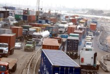 Gridlock in Lagos caused by articulated vehicles